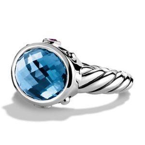David Yurman Renaissance Ring Blue Topaz Amethyst